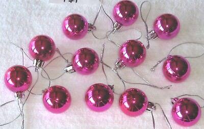 Rose Red Mini Ornaments Christmas Non Shatter Balls Shiny Miniature Tree ()