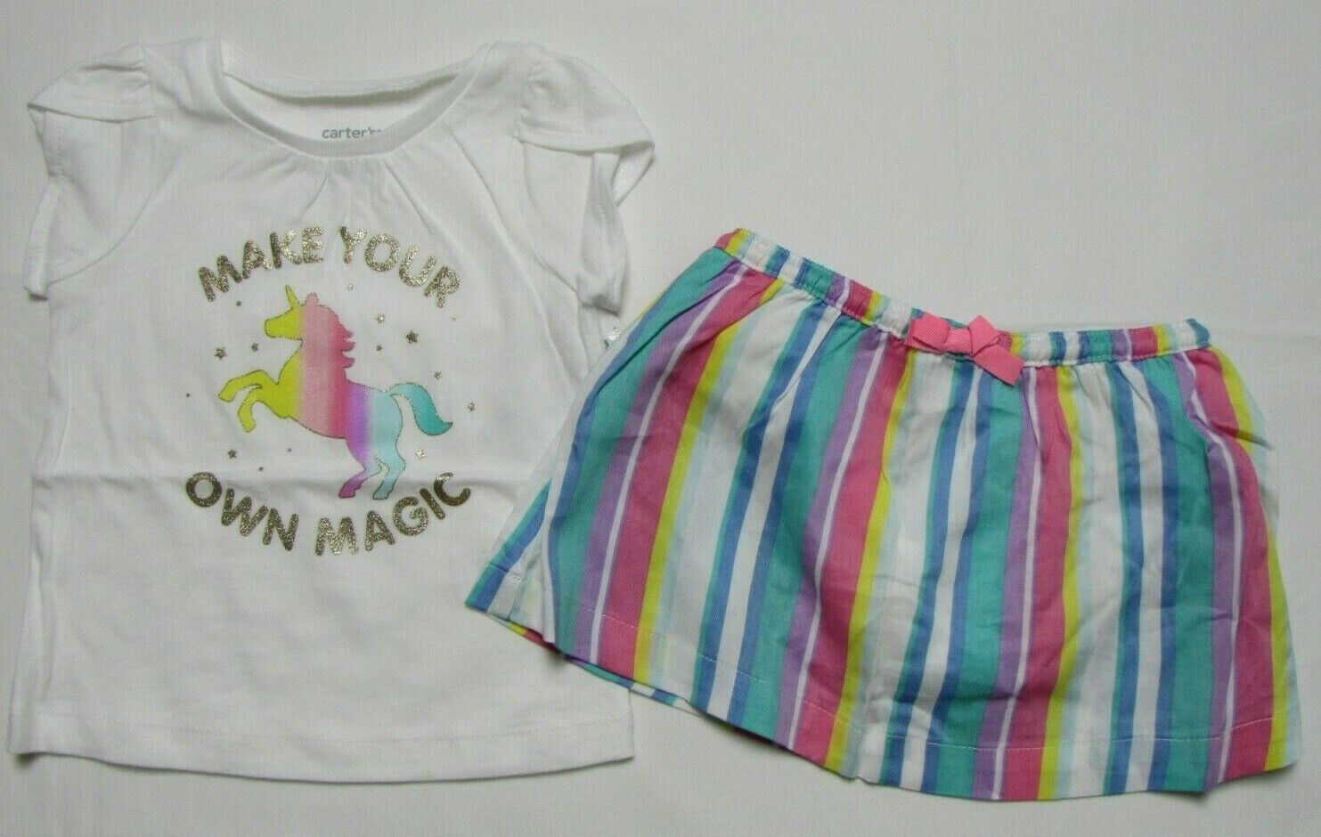 Baby girl clothes, 2T, Carter's 2 piece skort set NEW WITH T