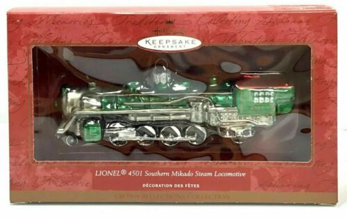 Lionel 4501 Southern Mikado Steam Locomotive 2000 Hallmark Keepsake Ornament NIB