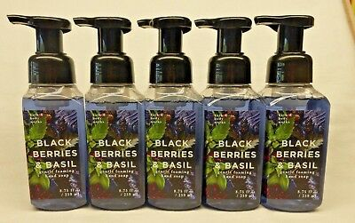 (5 Black Berries & Basil Gentle Foaming Hand Soap Bath & Body Works 8.75 Oz)