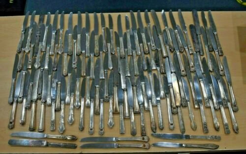 Lot of 100 Silverplate Knives Flatware Silver Plate (#3)