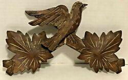 Vintage Wood Hunters Cuckoo Clock Parts Top Topper Trim 10 wide x 6 tall