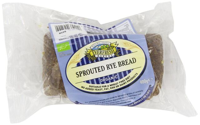 Everfresh Organic Sprouted Rye Bread 400g (Pack of 8)