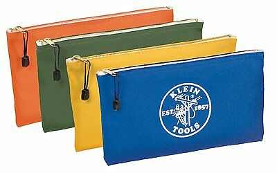 Klein Tools 5140 Canvas Zipper Bags, 4-Pack