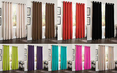 TWO BLACKOUT WINDOW ROOM CURTAINS 55x90 LINED HEAVY THICK PANEL ERIN BAMBOO ()