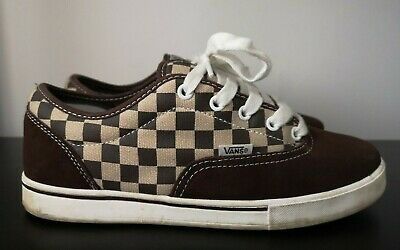 VANS Off the Wall Brown Skateboarding Trainers Shoes VGC - UK 7