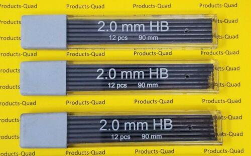 2.0 mm Mechanical pencil lead refill 36 pcs 90mm mechanical pencil