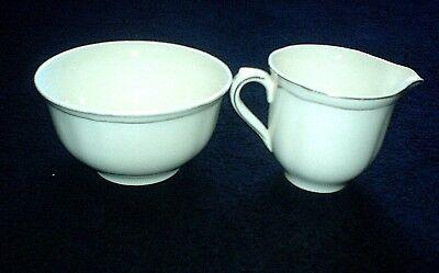 ALFRED MEAKIN Cream Gold Jug + Sugar Bowl c1945