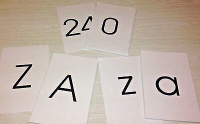 LAMINATED - Classrom Flashcard Set -  78  Large Flash Cards - ABC & NUMBERS