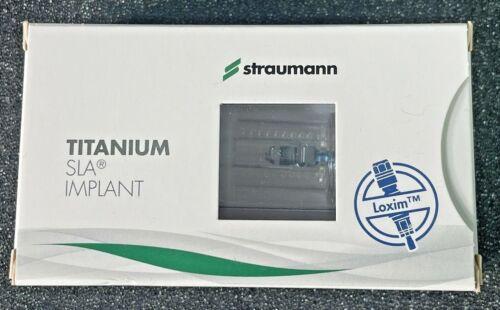 Straumann Titanium Bone Level Implant 4.8mm RC, SLA 10mm, Ti Loxim Ref: 021.6610