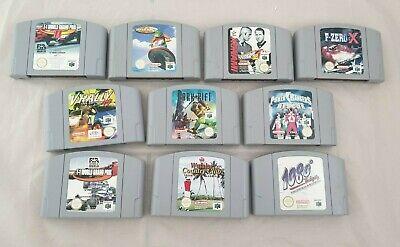 10 Spiele für Nintendo 64 / N64 u.a. Power Rangers Rescue, 1080, F-Zero X, F-1