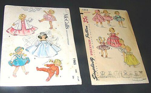 Vintage 2 Doll Patterns Simplicity 1372, McCalls 1965 ALEXANDER-KINS