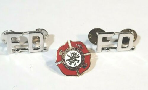 VINTAGE VOLUNTEER  FIRE DEPT.PIN and Insignias (FD)