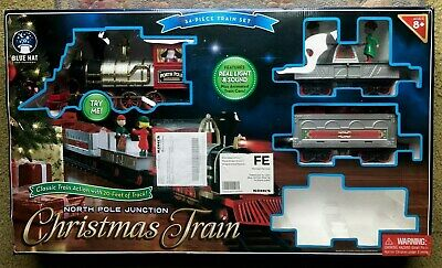 Train Set North Pole Junction Christmas 20' Track Light and Sound