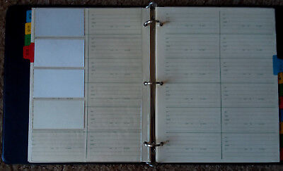 Sturdy Vtg 3 Ring Binder Name Address And Business Card File With Divider Tabs