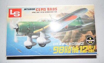 Mitsubishi C5M2 Babs 1/72 Reconnaissance Plane Model Kit Japanese VTG