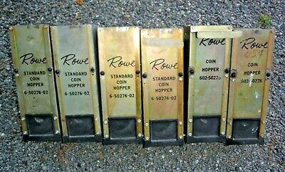Lot Of 6 Rowe Bill Changer Hi-capacity Coin Hopper 6-50276-02 602-50276