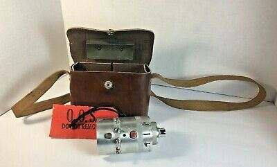 Vintage Model Ems-507 Analog-autocollimator And Brown Carry Bag Md