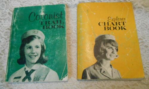 Vintage 1963 Pioneer Girls Colonist Trail Book & Explorer Chart Book Handbooks