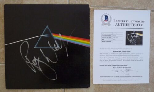 Roger Waters Pink Floyd Dark Side Moon Autographed Signed LP Beckett Certified