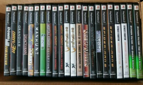 Various Original SONY Playstation PS2 CASE + COVER ARTWORK INSERT ONLY (no game)