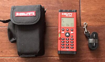 Hilti Pd28 Laser Range Meter Measurer Finder 500 Ft Case Strap Mint Rare