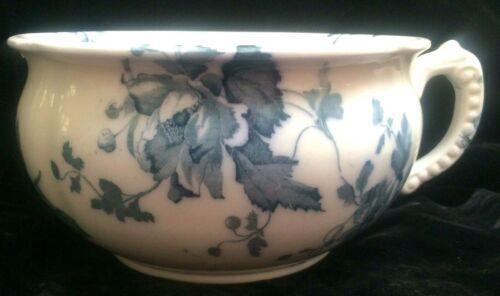BEAUTIFUL Antique Victorian Aqua Flow Blue Chamber Pot