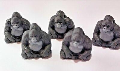 Peruvian Ceramic Mountain Gorilla Bead Single OR Lot of Five OR Ten DIY -