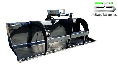 Es New 66 Smooth Bucket Grapple Skid Steer Quick Attach Loader -local Pick Up