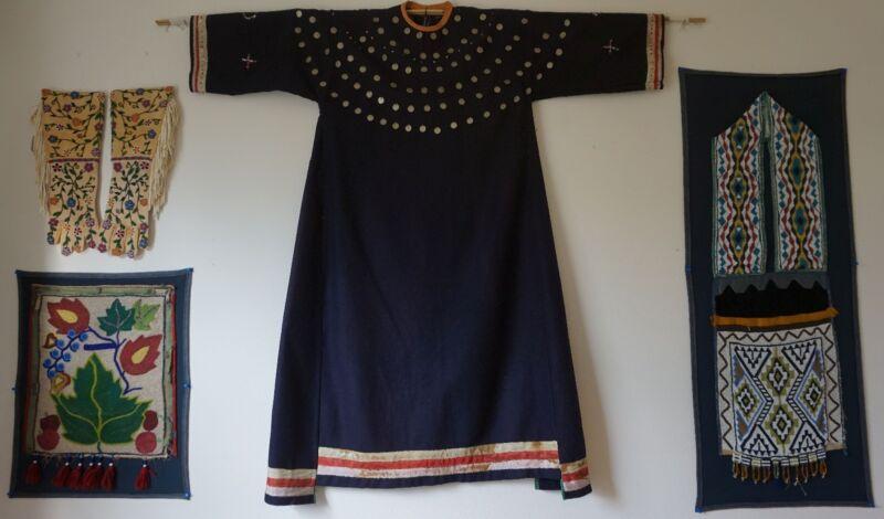 Rare Native American Santee Sioux Trade Wool Woman