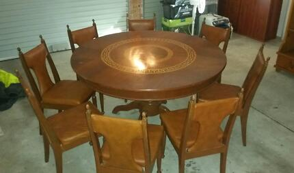 8 Seater Parquetry Dining Table Belrose Warringah Area Preview