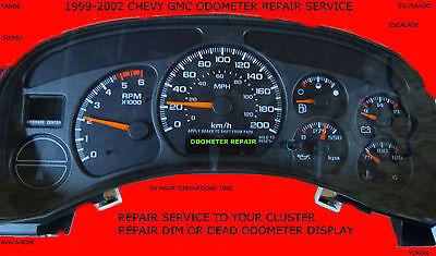 1999  CHEVY GMC DIESEL CLUSTER ODOMETER GEAR DISPLAY REPAIR SERVICE