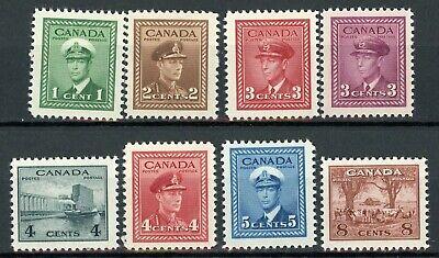 Stamps Canada Scott # 249-256 Mint, NH