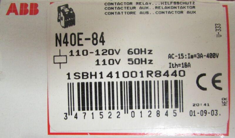 ABB 1SBH141001R8440 Contactor Relay N40E-84 110/120V