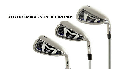 MENS RIGHT HAND MAGNUM XS #3, 4 & 5 WIDE SOLE GRAPHITE IRON SET ANY LENGTH &FLEX