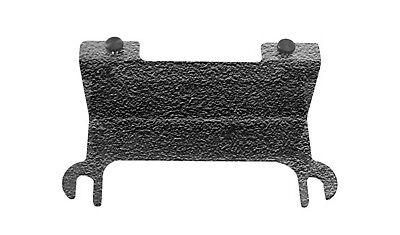 Textured Black License Plate Relocation Bracket Jeep Wrangler 07-18 Steinjager
