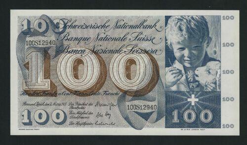 SWITZERLAND  100 FRANCS 1973   P-49o   UNC