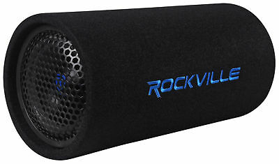 "Rockville RTB65A 6.5"" 300w Powered Operative Car Subwoofer Bass Tube + MP3 Input"