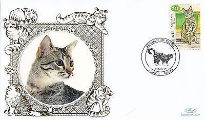 (80976) Palau Benham FDC Cats - 18 March 2002