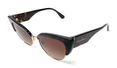 New Dolce & Gabbana DG 4346 502/13 Havana Women Authentic Sunglasses 53-17-A8