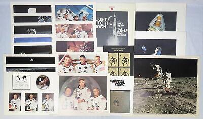 Vtg Lot NASA Apollo Memorabilia Vinyl LP Record Booklets Posters Space Astronaut