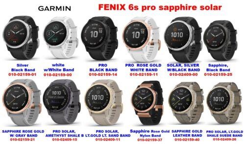 GARMIN FENIX 6S ALL MODELS PRO SAPPHIRE SOLAR .. CHOOSE THE BEST