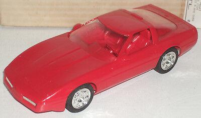 """Plastic Promo Car 1990 Chevrolet Corvette ZR-1 Bright Red 7"""" New in Box"""