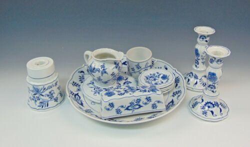 12pc Lot of Blue Danube China BLUE DANUBE Serving Pieces Creamer,Chop Plate++