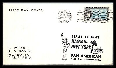 GP GOLDPATH: BAHAMAS COVER 1957 FIRST DAY COVER _CV676_P23