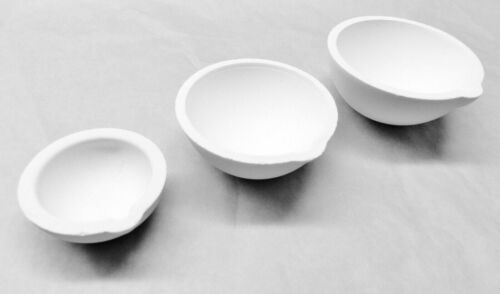 Set of 3 Ceramic Crucible Dish Cup 100 250 500 Gram Melting Pouring Gold Silver