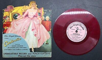 Star Bright Classics Presents CINDERELLA 78RPM Record