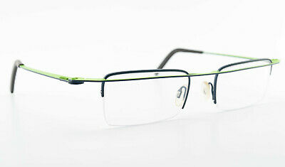 THEO BELGIUM Brille Friet 227 Half Rim Designer Eye Frame Flat Green Blue 2012