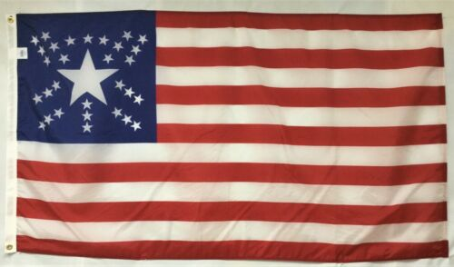 California Great Star 1853 Historical Outdoor Dyed Nylon Flag Grommets 3