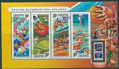Singapore 1996 SG849 Olympic Games MS MNH